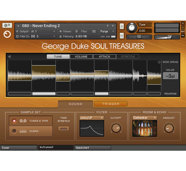 Native Instruments George Duke Soul Treasures GUI UI Interface Design