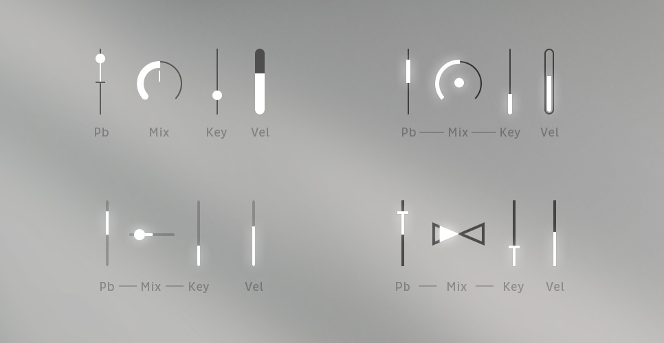 Concept User Interface Design MNDN e-instruments Session Keys Dynamics Controls