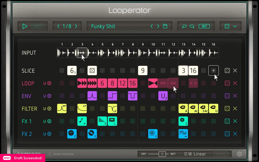 Looperator GUI & UX Design – User Interface Design (UI) Experience