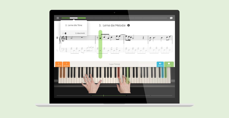 MNDN Skoove UI Design Trainer Screenshot Interface Design Laptop Webapp