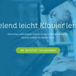 Skoove Website Interface Design Landing Page Hero Shot