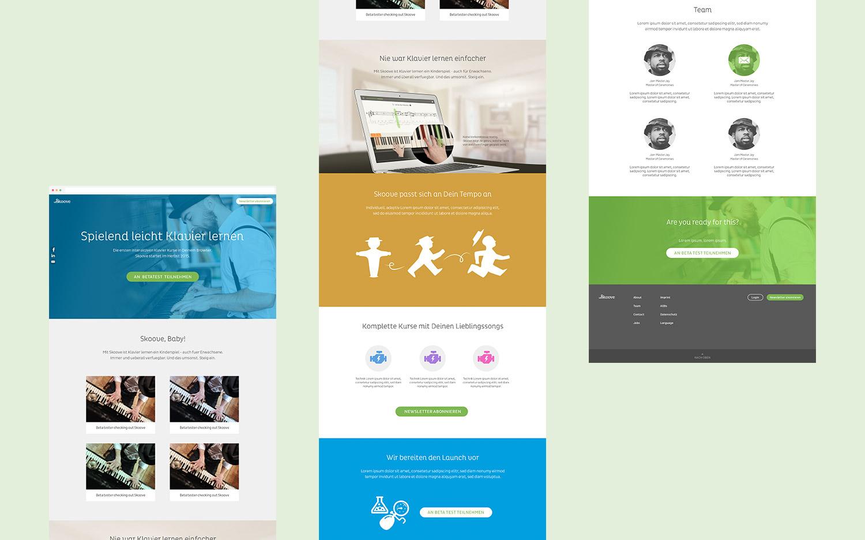 Skoove Website Landing Page Design