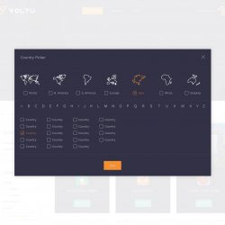 MNDN Voltu UI Design Country Selection