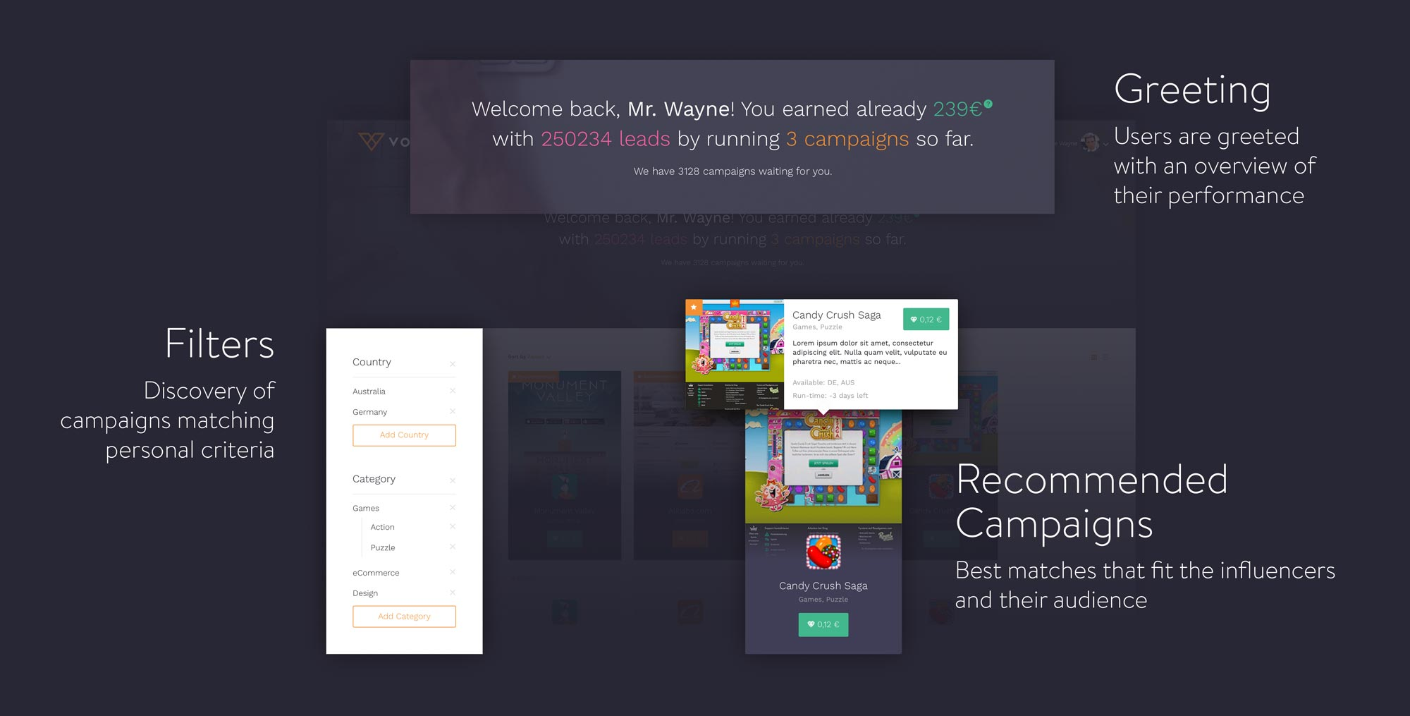MNDN Voltu UI Elements interface-components campaign page