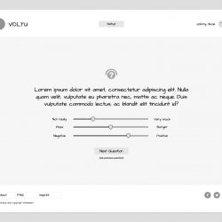 MNDN Voltu user interface wireframe questionnaire step 3