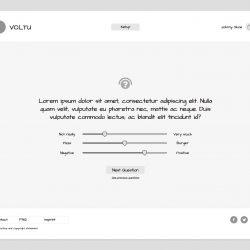 MNDN Voltu user interface wireframe questionnaire step 3